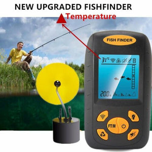 Sonar Fish Finder Fishing Depth 100M Sonar Sensor Alarm Transducer