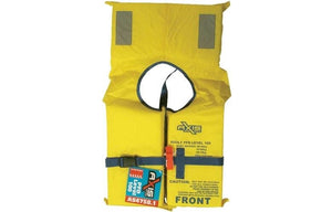 AXIS ADULT PFD1 LIFEJACKET LEVEL L100 Standard Life Jacket/Vest & SAFETY WHISTLE