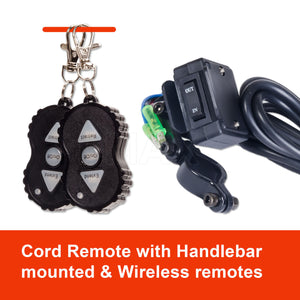 12V Electric Car Winch 3000LBS/1361KG Wireless Remote Steel Cable Rope 4WD ATV IMAX