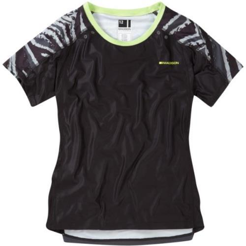 Madison Flux Womens Short Sleeve Black/Dark Shadow Jersey