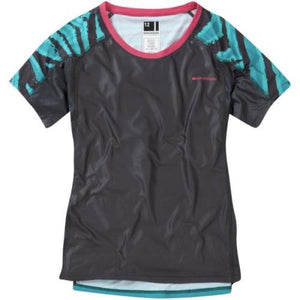 Madison Flux Womens Short Sleeve Dark Shadow/Blue Jersey