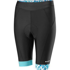 Madison Sportive Womens Black/Blue Shorts Front