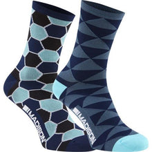 Load image into Gallery viewer, Madison Sportive Race Womens Long Sock Blue Combo Twin Pack