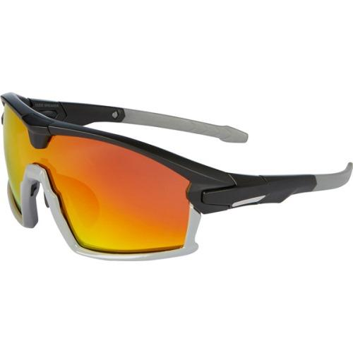 Madison Code Breaker Glasses Matt Black / Gloss Cloud Grey Frame, Fire Mirror Lens