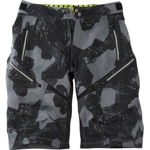 Madison Zenith Grey Camo Mens Shorts Front