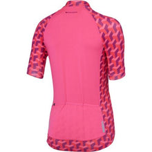 Load image into Gallery viewer, Madison Sportive Womens Short Sleeve Geo Camo Pink Glo Jersey Rear