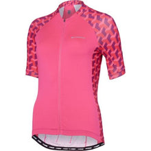 Load image into Gallery viewer, Madison Sportive Womens Short Sleeve Geo Camo Pink Glo Jersey Front