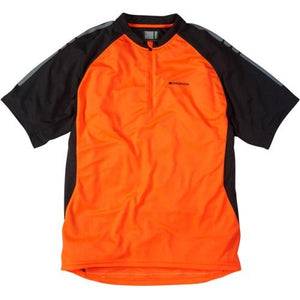 Madison Stellar Mens Short Sleeve Shocking Orange Jersey Front