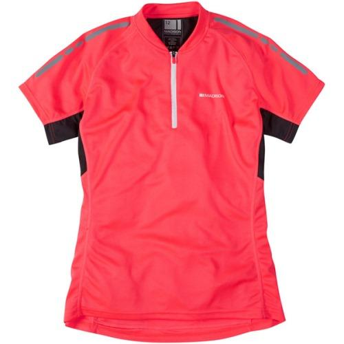 Madison Stellar Womens Short Sleeve Diva Pink Jersey Front