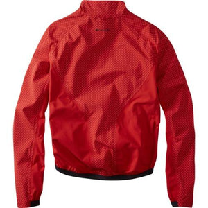 Madison Sportive Hi-Viz Mens Red Jacket Rear