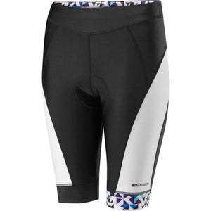 Madison Sportive Womens White/Black/Purple Shorts Front