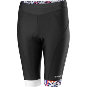Madison Sportive Womens Black/White/Purple Shorts Front
