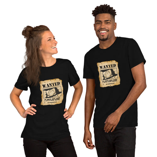 Monkey Wanted Poster Short-Sleeve Unisex T-Shirt