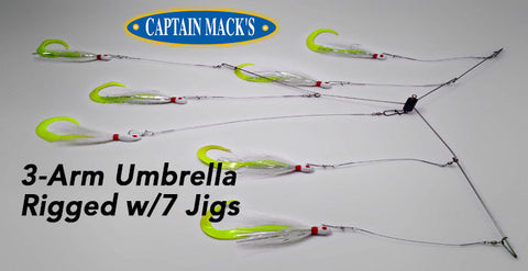 Capt. Mack's 3-Arm Umbrella Rigs