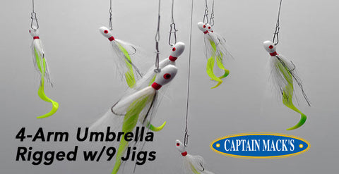 Capt. Mack's 4-Arm Umbrella Rigs