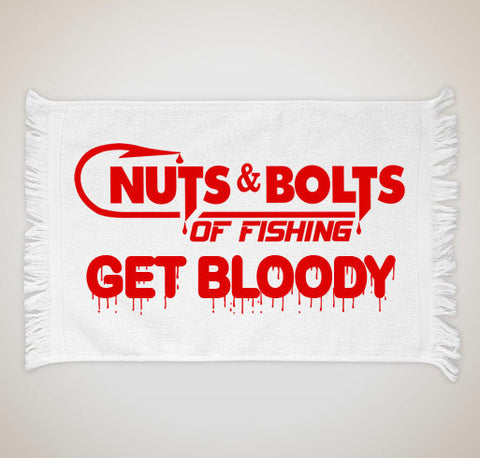 "Nuts & Bolts ""Get Bloody"" Fishing Towel"