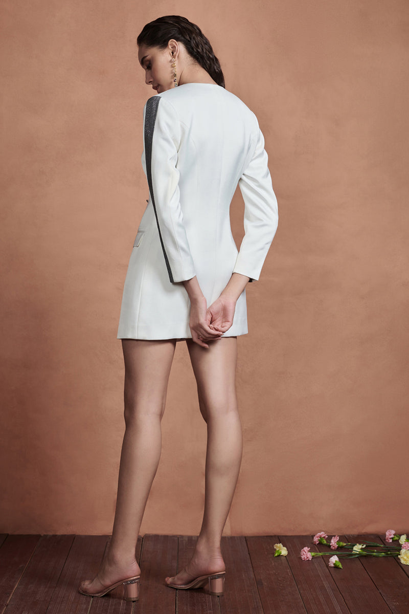 White Cocktail Blazer