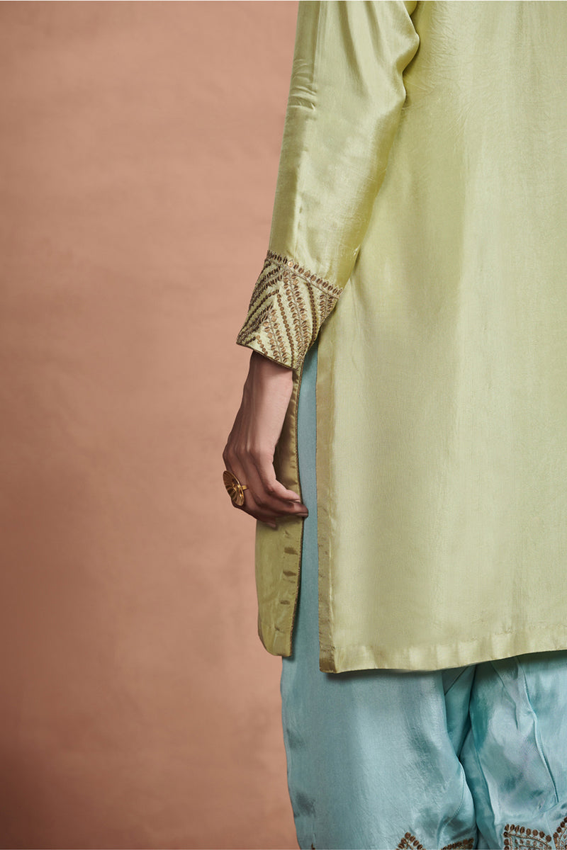 Pastel Embroidered Kurta Set