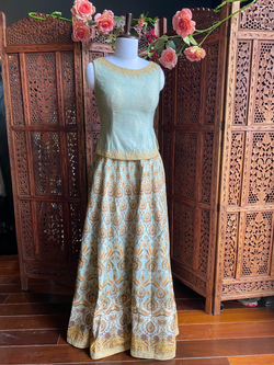Set of 2 Skirt and Blouse
