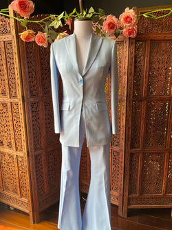 Blazer and Bell Bottom Pant Suit