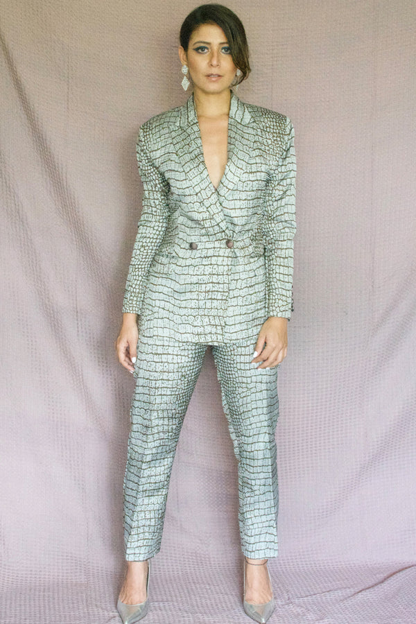 Snake Print Pant Suit