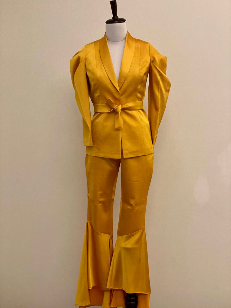 Sunflower Yellow Puff Sleeve Co-ord Set