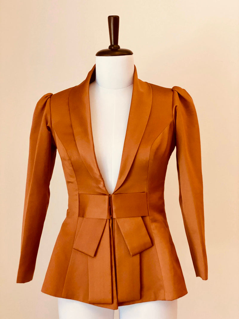 Burnt Caramel Evening Jacket