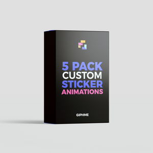 5 Custom Animated Gif Stickers