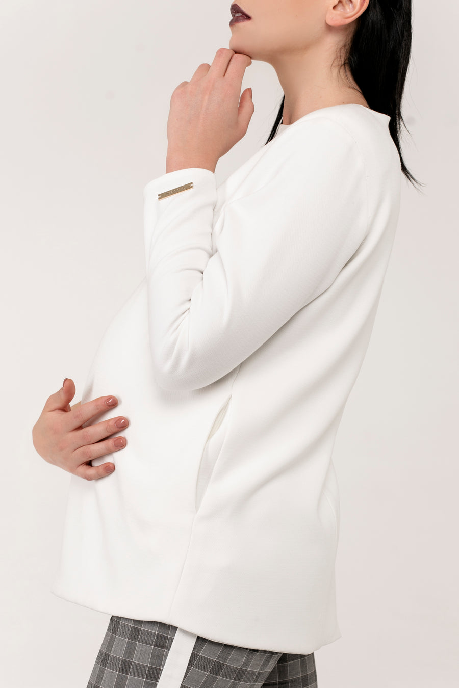 Asymmetric Nursing Jacket - JLMaternity