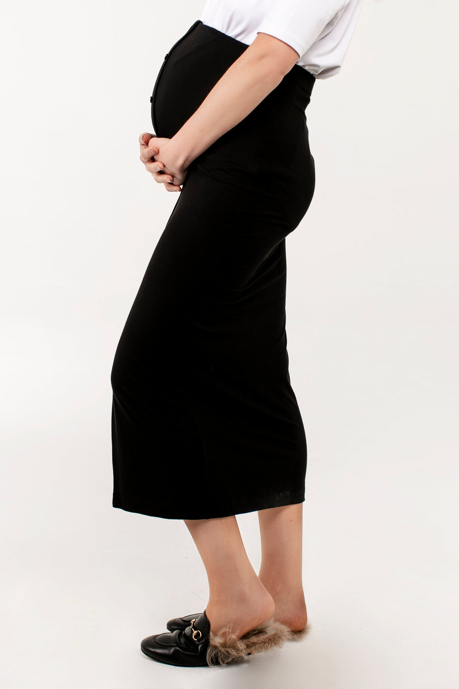 Front Button Skirt - JLMaternity