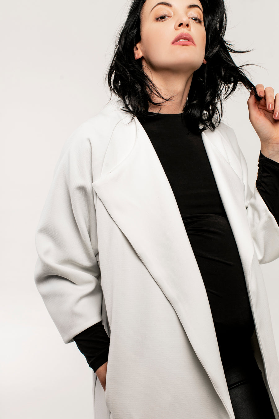 Oversized Nursing Coat - JLMaternity