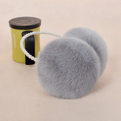Pearl Winter Earmuffs Women-3kstyle