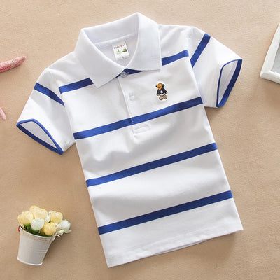 Summer Short Sleeve Shirts Boys Stripes