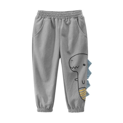 Kids Smile Print Cotton Boys Pants