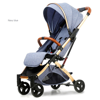 Light aluminium alloy stroller gold frame