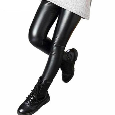 Baby Girls Faux Leather Leggings