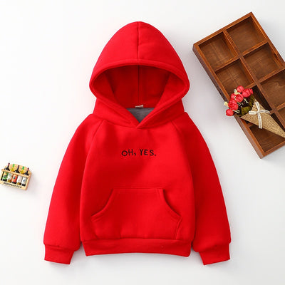 Letters Print Children Hoodies-3kstyle