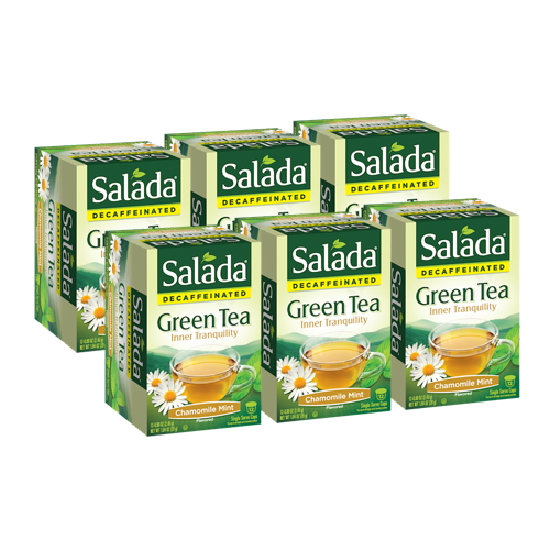 Salada Inner Tranquility Chamomile Mint Decaffeinated Green Tea Single Serve Cups (12 ct)