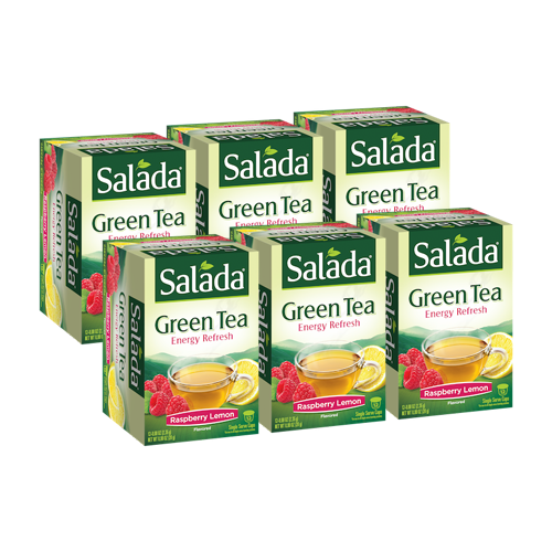 Salada Energy Refresh Raspberry Lemon Green Tea Single Serve Cups (12 ct)
