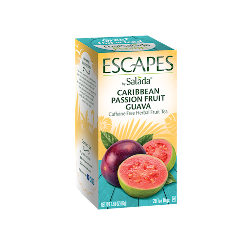 Salada Caribbean Passion Fruit Guava Herbal Tea 20ct