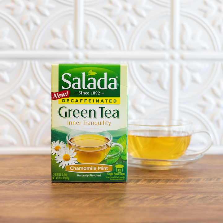 Salada Chamomile Mint Decaffeinated Green Tea Single Serve Cups 12ct