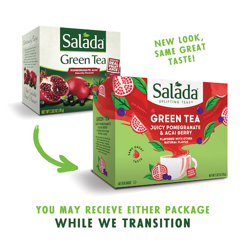 Salada Pomegranate Acai Green Tea - 40ct