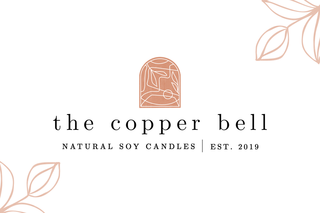 image of the copper bell logo, natural soy candles established in 2019