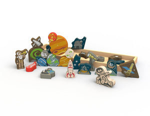 BeginAgain - Space A to Z Puzzle & Playset