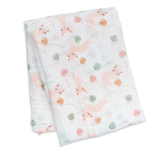 Lulujo - Swaddle en mousseline de cotton - Chatton