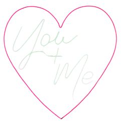 Love Heart 'You + Me' Neon Sign