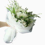 White Hand Tied Flowers