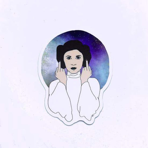 Princess Leia Finger Sticker