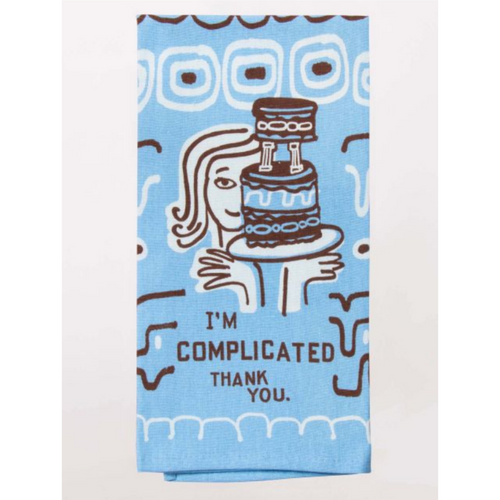 Blue Q Dish Towel I'm Complicated, Thank You