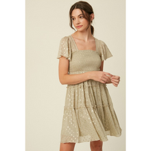 Load image into Gallery viewer, Foil Detail Swing Dress